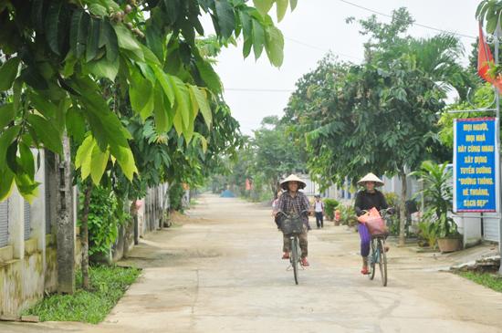 """Cuộc vận động """"Toàn dân đoàn kết xây dựng nông thôn mới, đô thị văn minh"""" được Điện Bàn chú trọng duy trì và đi vào chiều sâu. Ảnh: NG.ĐOAN"""
