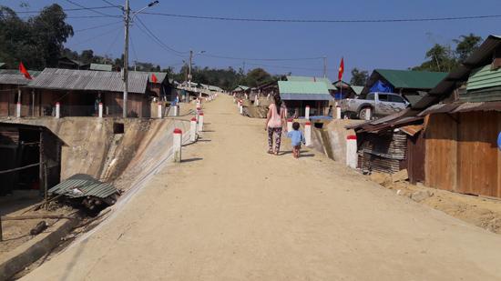 Khu tái định cư thôn 4A (xã Phước Thành, huyện Phước Sơn).Ảnh: N.DƯƠNG