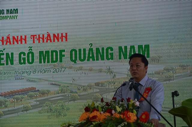 Phó Chủ tịch UBND tỉnh Lê Trí Thanh phát biểu tại buổi lễ