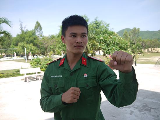 Bình nhì Phạm Quốc Dương.Ảnh: N.D