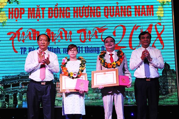 Tặng bằng khen của UBND tỉnh cho Chủ tịch Hội đồng hương Quảng Nam tại TP.Hồ Chí Minh đã có những đóng góp tích cực cho Hội đồng hương và quê nhà: MINH HẢI