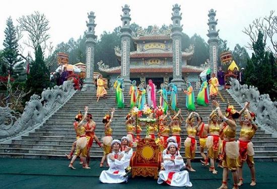 Đền Huyền Trân công chúa tại An Tây - Huế. Ảnh: Internet