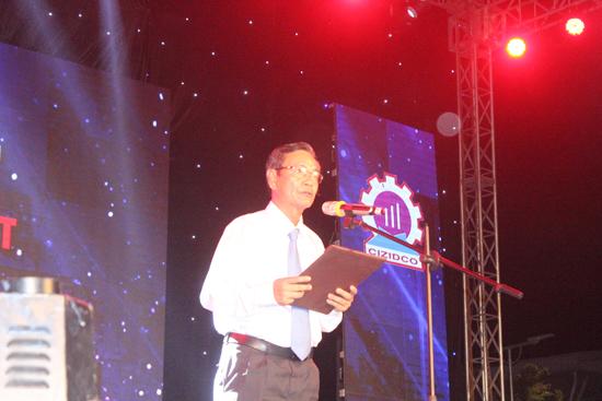Ông Nguyễn Văn Chúng - Chủ tịch HĐTV kiêm Giám đốc CIZICO mong sẽ giúp công nhân và người dân được thưởng thức đêm nghệ thuật đặc sắc. Ảnh: D.L