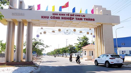 Khu công nghiệp Tam Thăng đã được lấp đầy dự án.