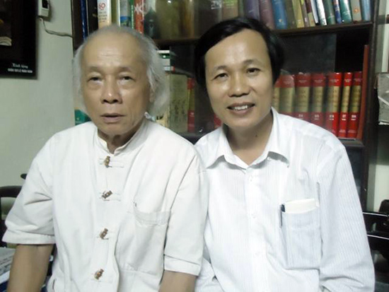 PGS-NGND. Lê Mậu Hãn và PGS-TS. Ngô Văn Minh (phải).