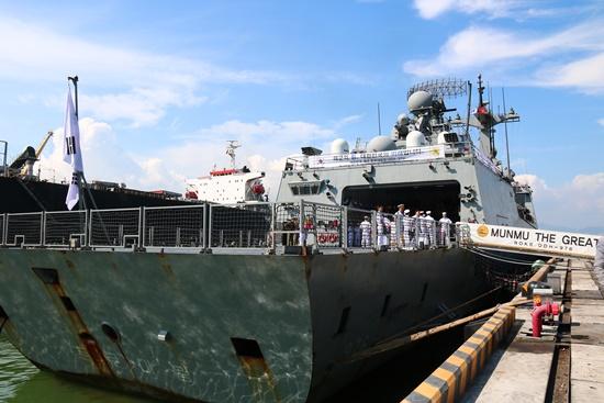 Tàu khu trục Hàn Quốc ghé thăm Đà Nẵng sáng 11.9