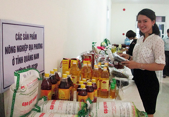 Nhiều sản phẩm nông nghiệp sạch của tỉnh hướng đến OCOP. Ảnh: VĂN SỰ