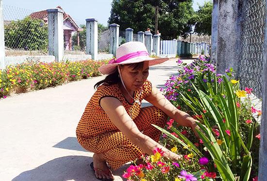 Tuyến đường hoa được xây dựng ở tổ 11 (thôn Vân Tây xã Bình Triều).