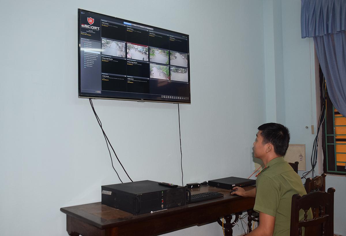 Nhờ mô hình Camera an ninh mà nhiều vụ trộm cắp trên địa bàn huyện Thăng Bình được phát hiện nhanh. Ảnh:  THANH THẮNG