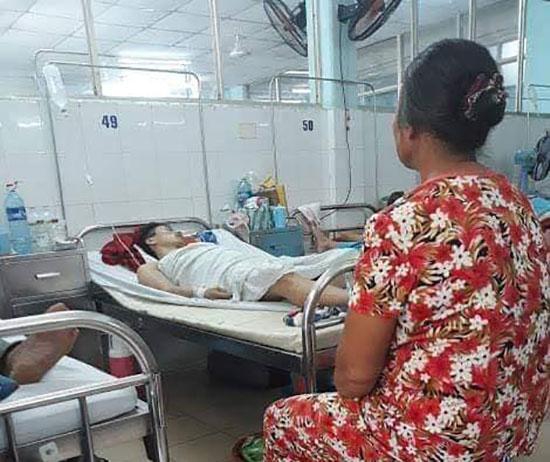 Nguyễn Lương Tâm tại Bệnh viện Đà Nẵng. Ảnh: Đ.Q