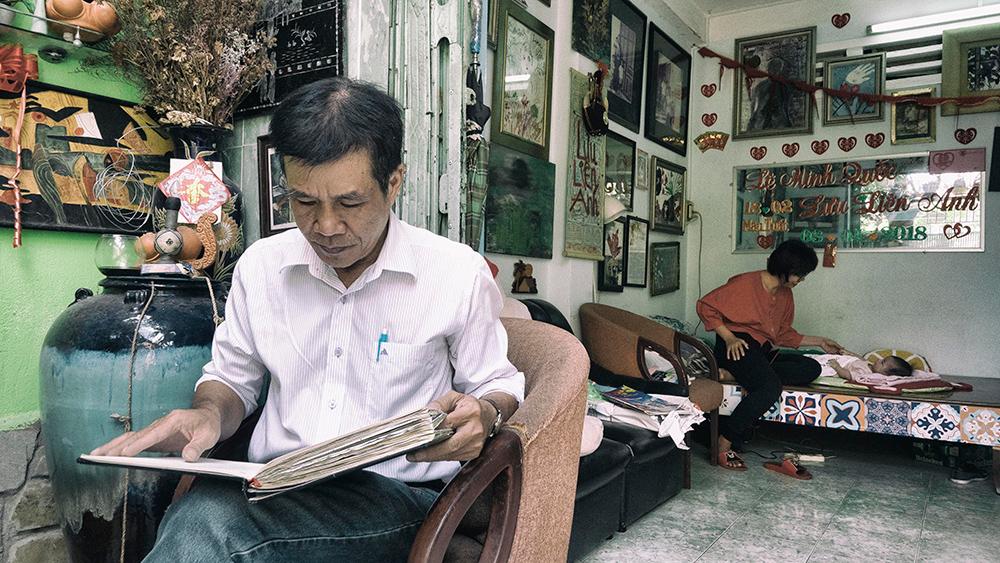 Căn nhà của nhà thơ Lê Minh Quốc bây giờ có nếp nhà rất đẹp.