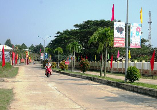 Diện mạo nông thôn mới xã Duy Trinh (Duy Xuyên) ngày càng khởi sắc. Ảnh: T.S