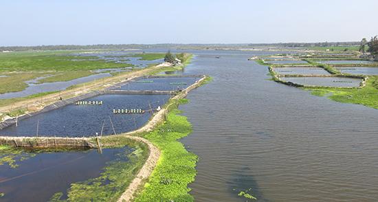 Vùng ven biển phía đông hiện đang có một dự án nuôi trồng thủy sản công nghệ cao và sẽ được nhân rộng khi mô hình thành công.Ảnh: T.D