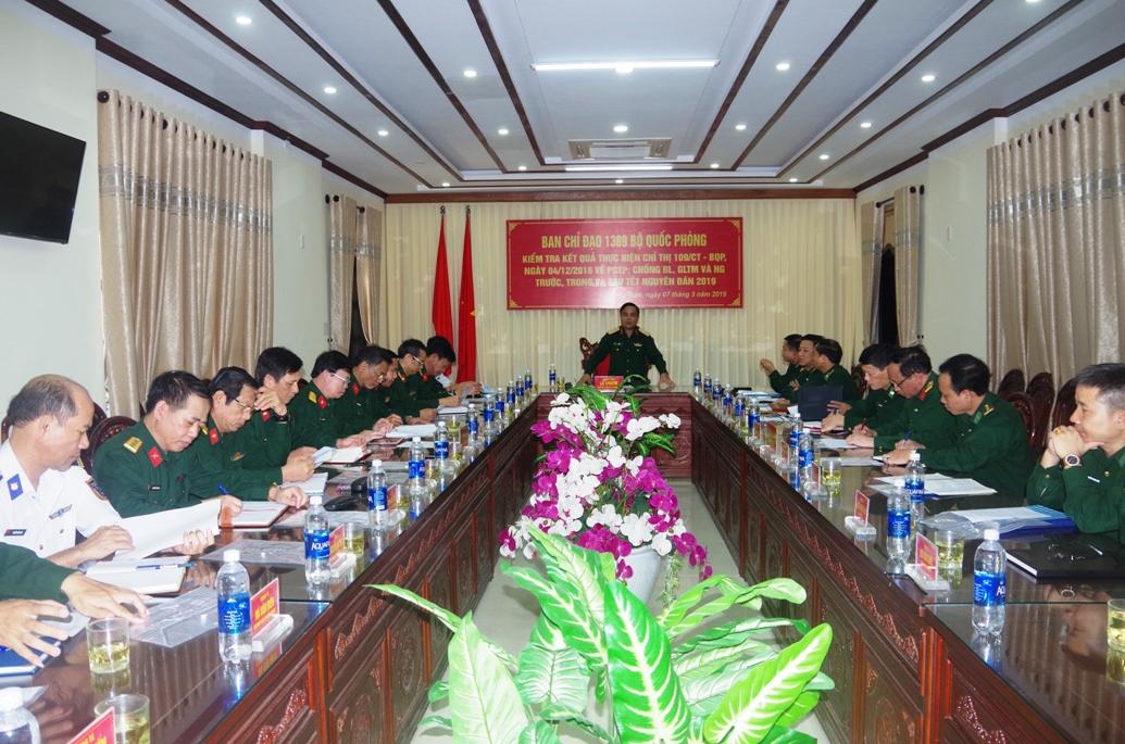 Thượng tướng Lê Chiêm ghi nhận và đánh giá cao kết quả triển khai thực hiện công tác 1389 của BĐBP tỉnh.