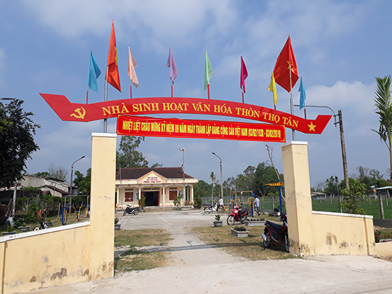 Nhà văn hóa thôn Thọ Tân được xây dựng khang trang. Ảnh: T.Q
