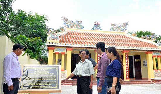 Di tích lịch sử cấp tỉnh Đình làng Phú Nham Tây. Ảnh: DUY HIỂN