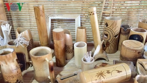 Different bamboo products at Taboo Bamboo shop.