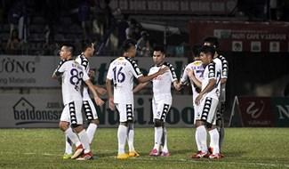 Dù thất bại song Hà Nội đã gây ngạc nhiên bằng lối chơi tấn công đẹp mắt tại đấu trường bóng đá châu lục. Ảnh: T.V