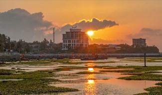 """Huyện đảo Lý Sơn gồm 2 hòn đảo là đảo Lớn và đảo Bé. Xung quanh đảo gần như được bao bọc bởi các rạn san hô, mà khi nước cạn, dân địa phương quen gọi là """"gành"""". Ảnh: Xuân Thọ"""