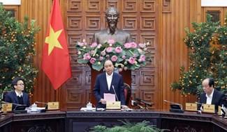 Thủ tướng Chính phủ họp khẩn về phòng, chống dịch bệnh do virus corona gây ra - Ảnh: TTXVN