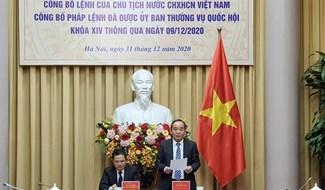Phó Chủ nhiệm Văn phòng Chủ tịch nước Lê Khánh Hải công bố Lệnh của Chủ tịch nước