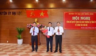 Ông Nguyễn Hữu Vũ được phân công giữ chức vụ Phó Bí thư Thường trực Huyện ủy Đại Lộc. Ảnh: N.D