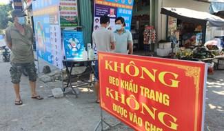 Chợ Được (Bình Triều) quản lý chặt chẽ người ra vào chợ