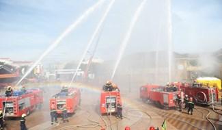 Diễn tập phòng cháy chữa cháy và cứu nạn cứu hộ. Ảnh: Baoquangnam.vn